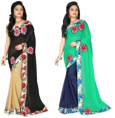 Amayra Fashions Embellished Fashion Chiffon Sari