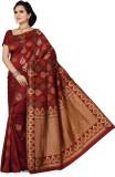 Mann Solid Banarasi Handloom Art Silk Sa...