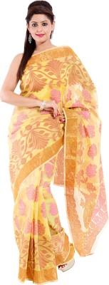 Sinjara Printed Banarasi Banarasi Silk Sari