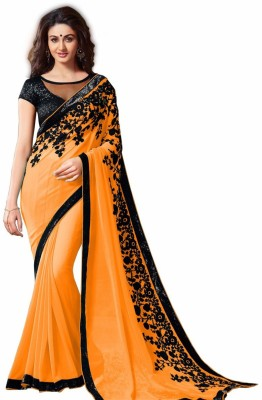 Uma Traders Self Design Bollywood Georgette Sari