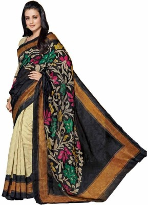 Vf Designer Printed Daily Wear Cotton Sari