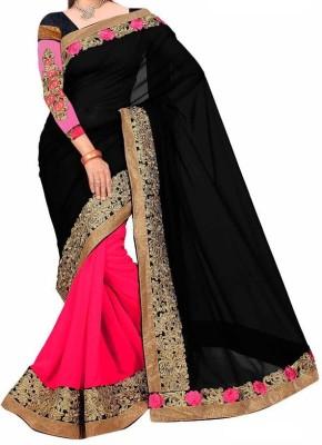 Khushi Embriodered Lehenga Saree Pure Silk Sari
