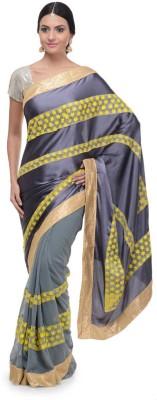 Aarohii Striped Bollywood Satin, Georgette Sari