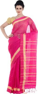 Bengal Handloom Solid Tant Polycotton Sari