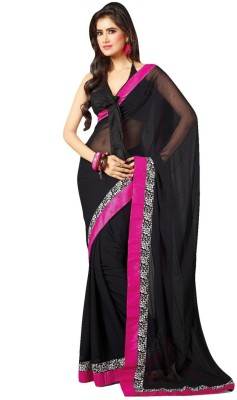 Kyara Plain Bollywood Chiffon Sari