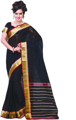 Studio Shringaar Striped Banarasi Art Silk Sari