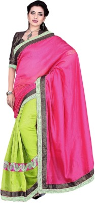 Prachi Silk Mills Embriodered Fashion Linen Sari