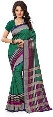 DESIGN WILLA Printed Mysore Synthetic Crepe Sari