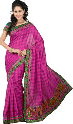 Parvati Fabrics Striped Patola Jacquard Sari