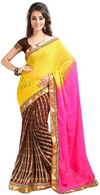 Yash Kumar Prints Embriodered Fashion Chiffon Sari