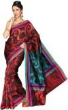 Korni Solid Banarasi Cotton, Silk Saree ...