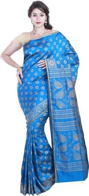 BrindavanSilks Printed Daily Wear Poly Silk Sari