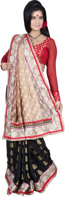 Ritoja Embriodered Lehenga Saree Handloom Brasso Sari available at Flipkart for Rs.3450