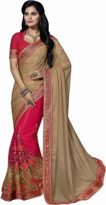 Sonal Saree Embriodered Bollywood Shimmer Fabric, Net Sari
