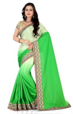 Sareeka Sarees Plain, Embriodered Bollywood Net Sari