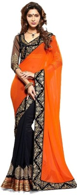 Shivam Saree Self Design Bollywood Georgette Sari