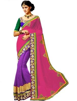 RIDDHIsiddhi Embriodered Fashion Georgette Sari