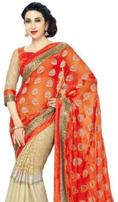 Anu Designer Self Design Fashion Viscose Sari