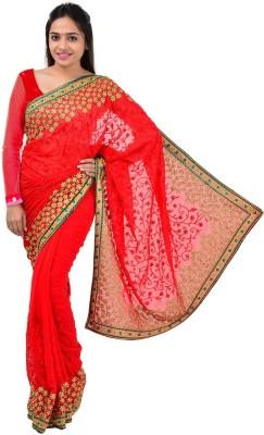 Shree Sai NX Embriodered Fashion Georgette Sari