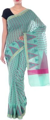 Paradise Fashion Woven Banarasi Handloom Georgette Sari