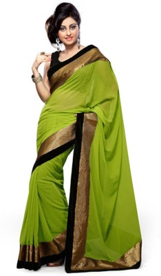 ASN Plain Bollywood Georgette Sari