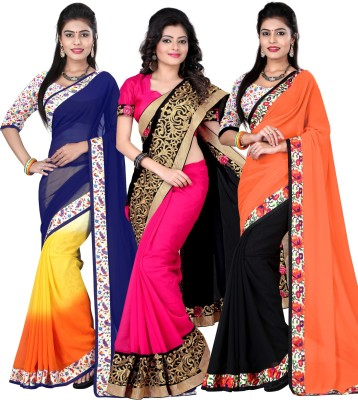 Kesar Sarees Embriodered Daily Wear Georgette Sari