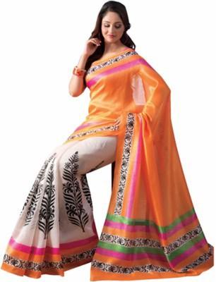 Nj Fabric Printed Bollywood Banarasi Silk Sari