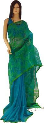Exin Fashion Woven Jamdani Muslin Sari