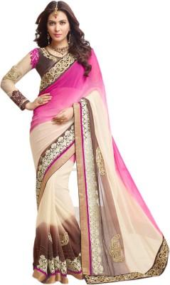 BlueWoman Self Design Fashion Georgette Sari
