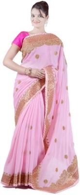 Janaknandini Embriodered Fashion Chiffon Sari