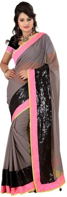 Sciocco Embriodered Fashion Chiffon Sari