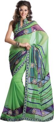 Urjita Creations Self Design Fashion Chiffon Sari