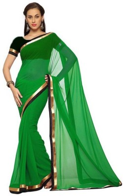 Reasonable555 Plain Fashion Georgette Sari