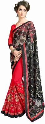 Chandramoulifashion Embriodered Fashion Georgette Sari