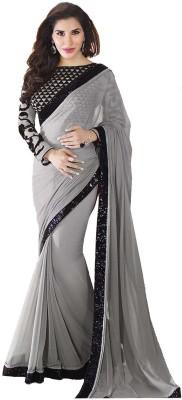 Hitesh Enterprise Solid Bollywood Georgette Sari