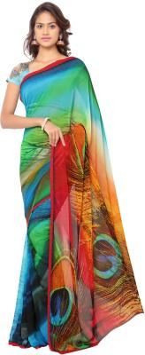 Vastragruh Printed Fashion Pure Georgette Sari