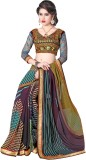 Manthan Printed Fashion Georgette Saree ...