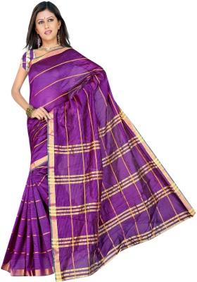 Being Feminine Striped Fashion Handloom Chanderi Sari