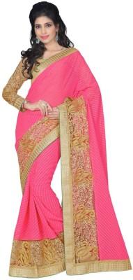 The Core Fashion Embriodered Fashion Chiffon, Jacquard Sari