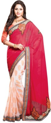 RG DESIGNERS Embriodered Fashion Georgette Sari