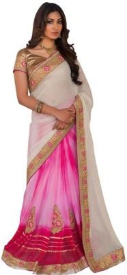 Kintu Designs Pvt. Ltd. Plain Fashion Chiffon Sari