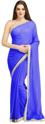 The Fashions Hub Self Design Bollywood Chiffon Sari
