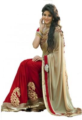 Krishna Creation Embriodered Bollywood Georgette Sari
