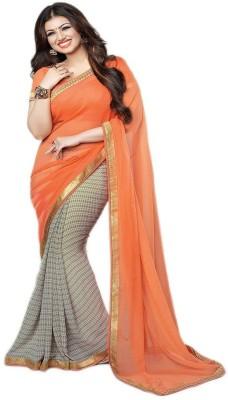 Aadinath Designer Self Design Fashion Georgette Sari