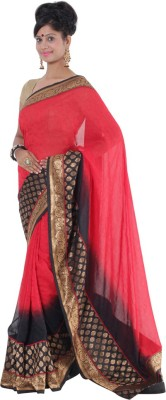 Vikrant Collections Plain Bollywood Georgette Sari