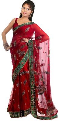 MyDeal Embriodered Fashion Brasso Sari