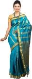 Tusk Printed Kanjivaram Silk Saree (Blue...