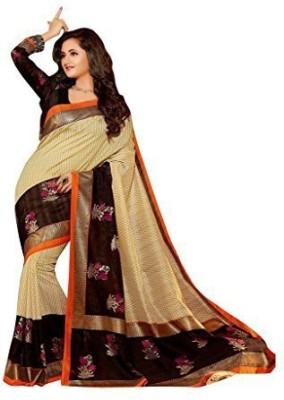 Queen's Collections Printed Bhagalpuri Art Silk Sari