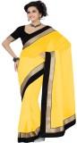 onlinefayda Solid Fashion Chiffon Saree ...