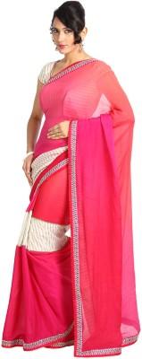 Vandanaraj Striped Fashion Georgette Sari